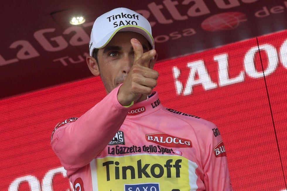 En la quinta jornada del Giro de Italia ya ha conseguido Alberto Contador vestirse de rosa como nuevo líder de la general.