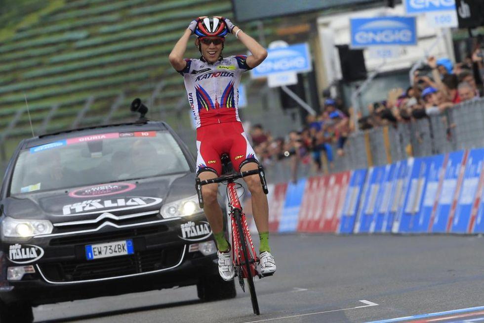 Ilnur Zakarin, ciclista ruso del Katusha llamado a dar mucho de qué hablar en un futuro cercano tras su victoria en el Tour de Romandía y su victoria de etapa en el Giro de Italia.