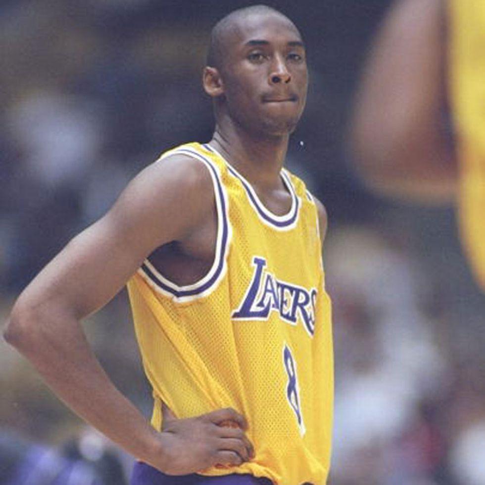 Kobe Bryant, el día de su debut contra los Timberwolves en octubre de 1996.