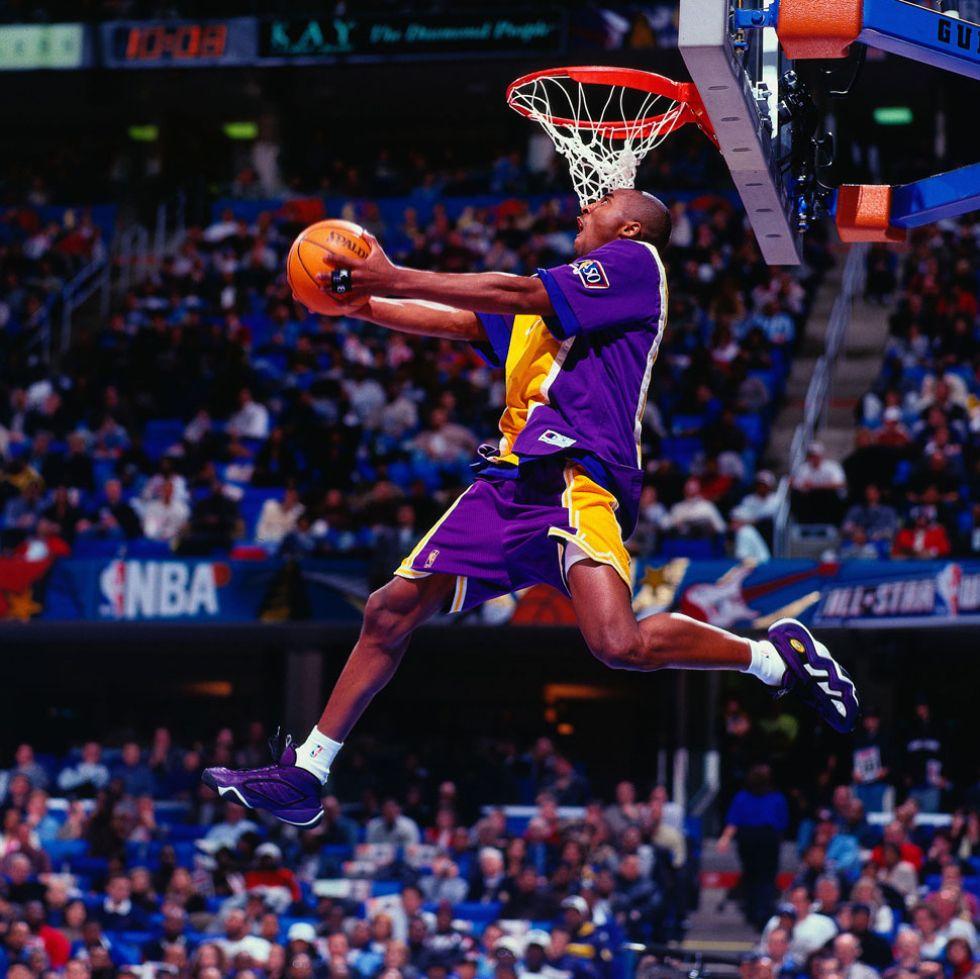 Kobe Bryant en el concurso de mates que gan� en 1997.