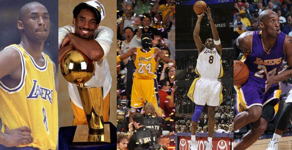La carrera de Kobe Bryant en imágenes