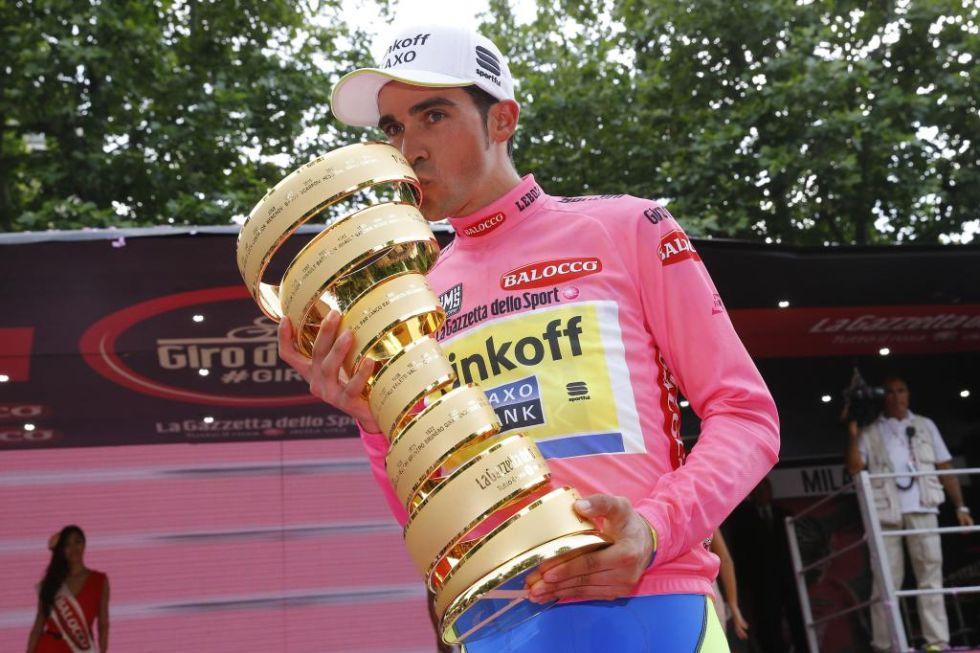 Contador logr� su segundo Giro de Italia y ya suma hasta siete grandes vueltas en su palmar�s.