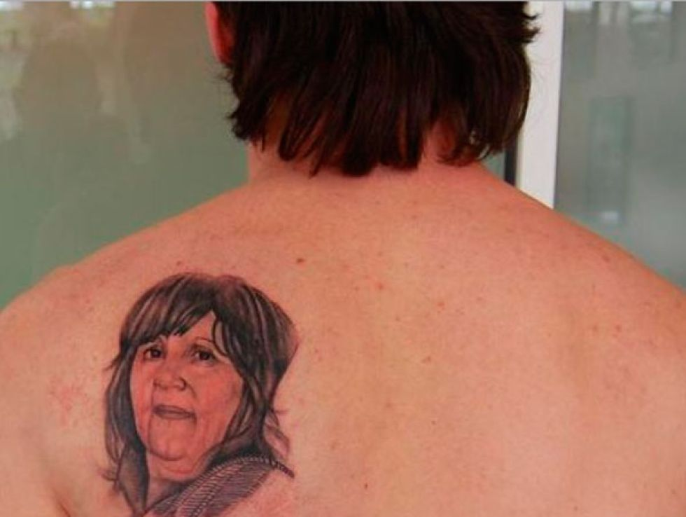 ff78de975 Getting a tattoo of someone's face is risky to begin with, but one of your