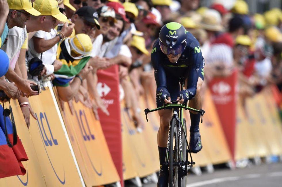 Alejandro Valverde quedó 2 segundos por delante de Contador, pero muy lejos de la cabeza.