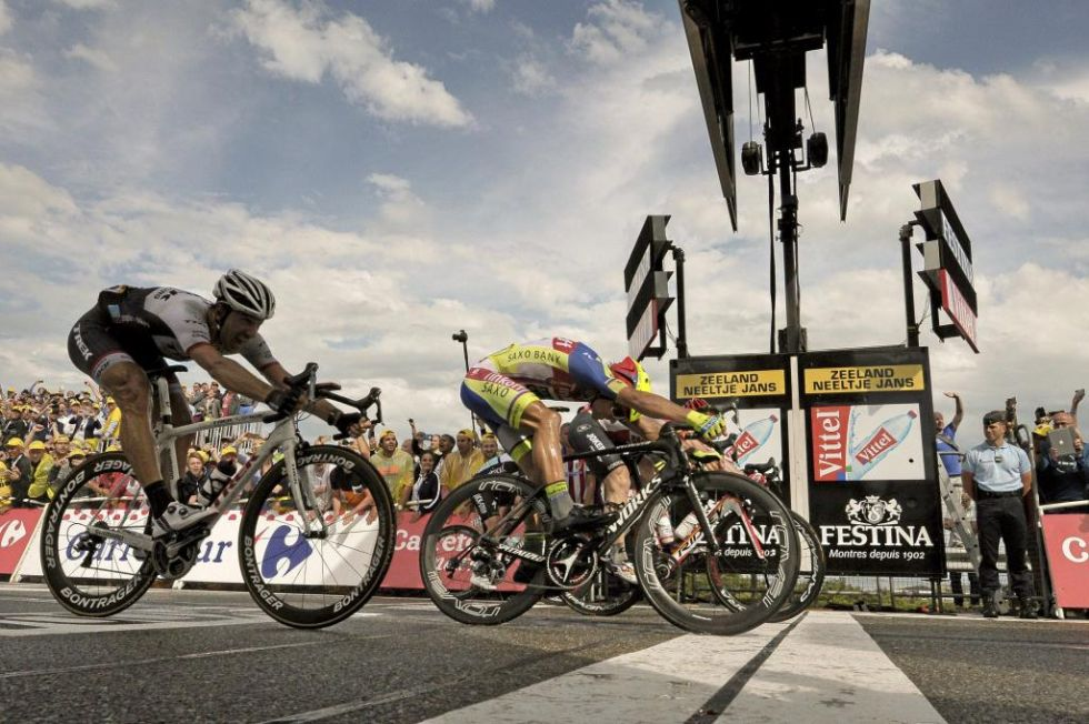 As� de cerca se qued� Peter Sagan de la victoria.