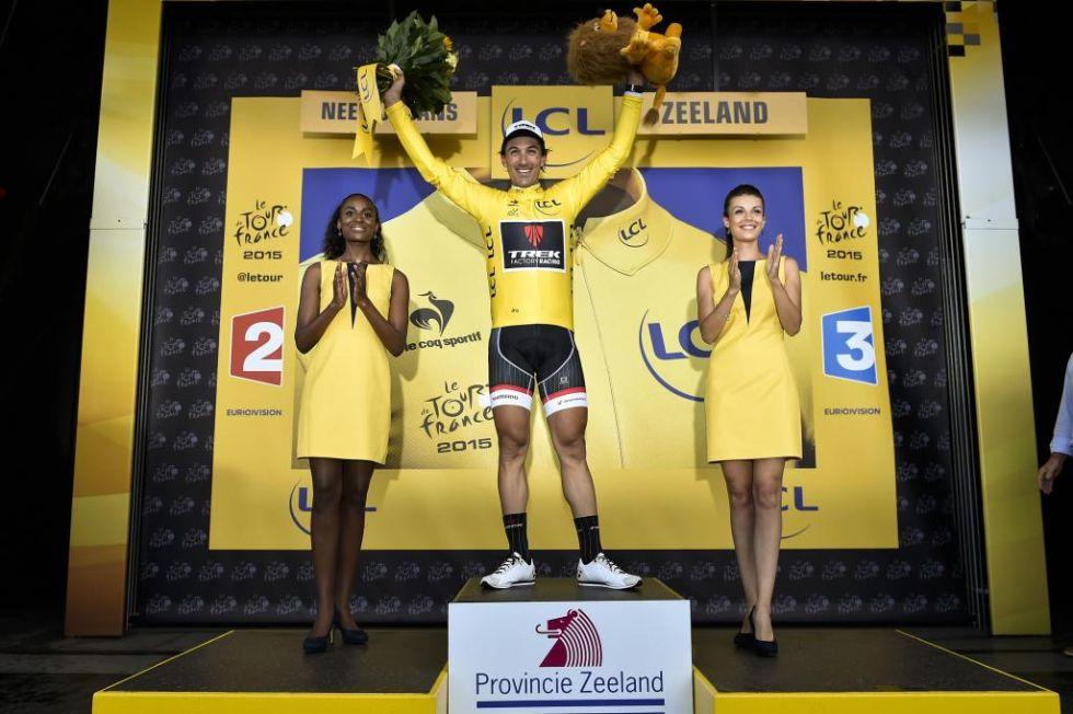 El veterano ciclista suizo ha conseguido enfundarse de nuevo el maillot amarillo como primer clasificado de la general.