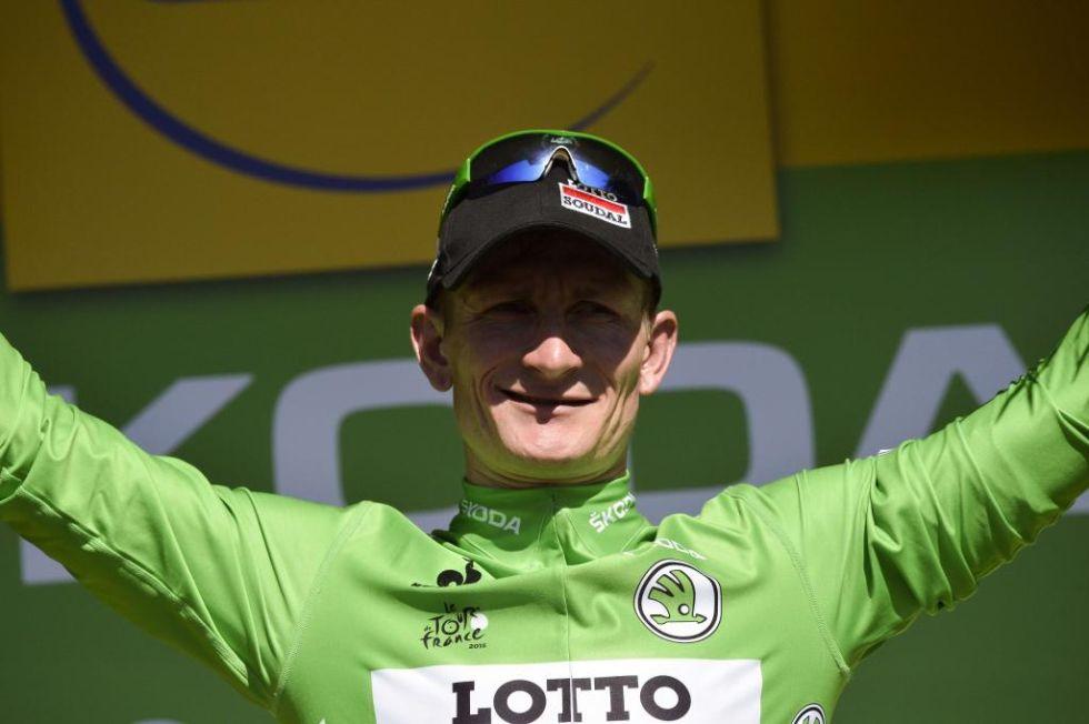 El sprinter del Lotto sigue llevando el maillot verde. Qued� segundo en la etapa.
