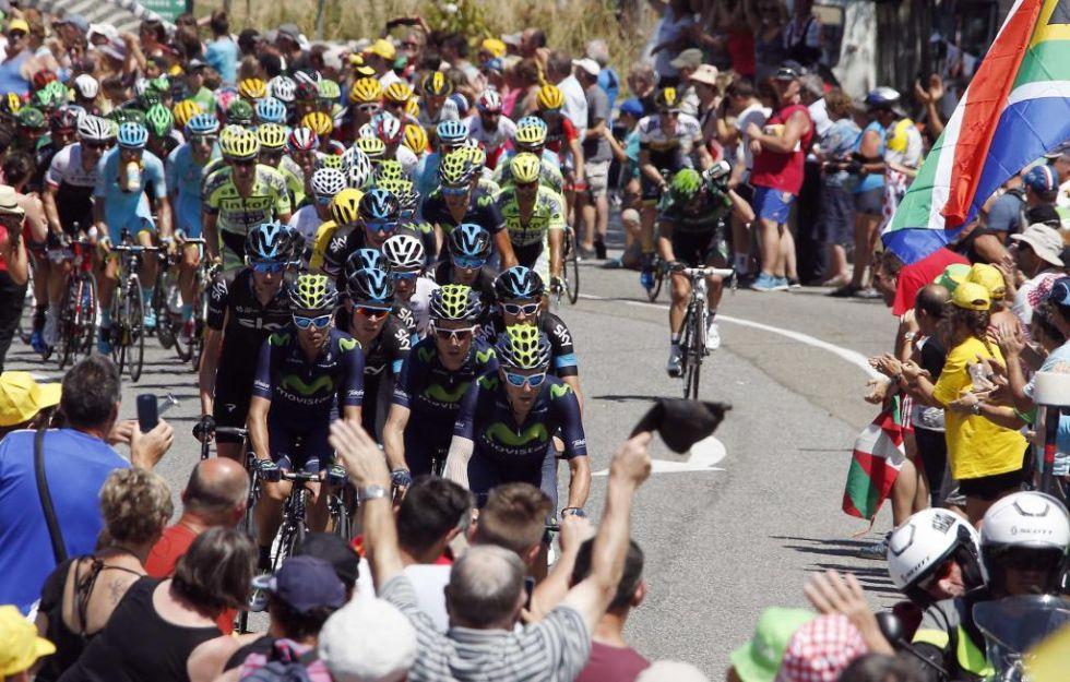 Movistar Team hizo una firme apuesta por la etapa para el colombiano, que no pudo rematar.