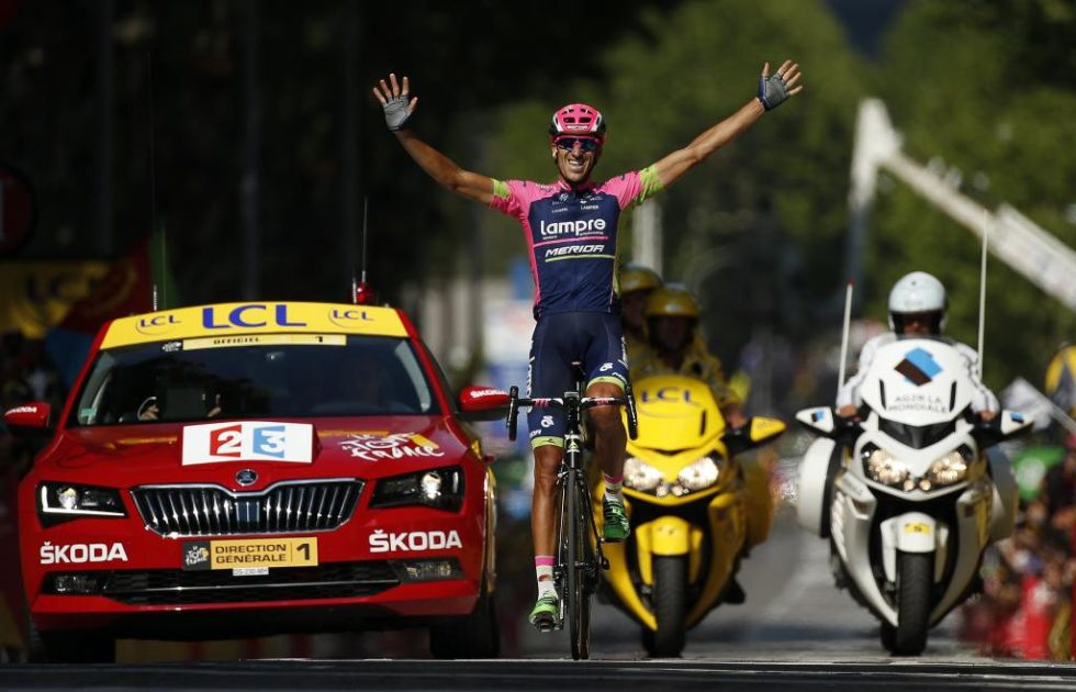 El alicantino dio la tercera victoria al ciclismo espa�ol en esta edici�n del Tour, tras culminar de manera magistral una fuga