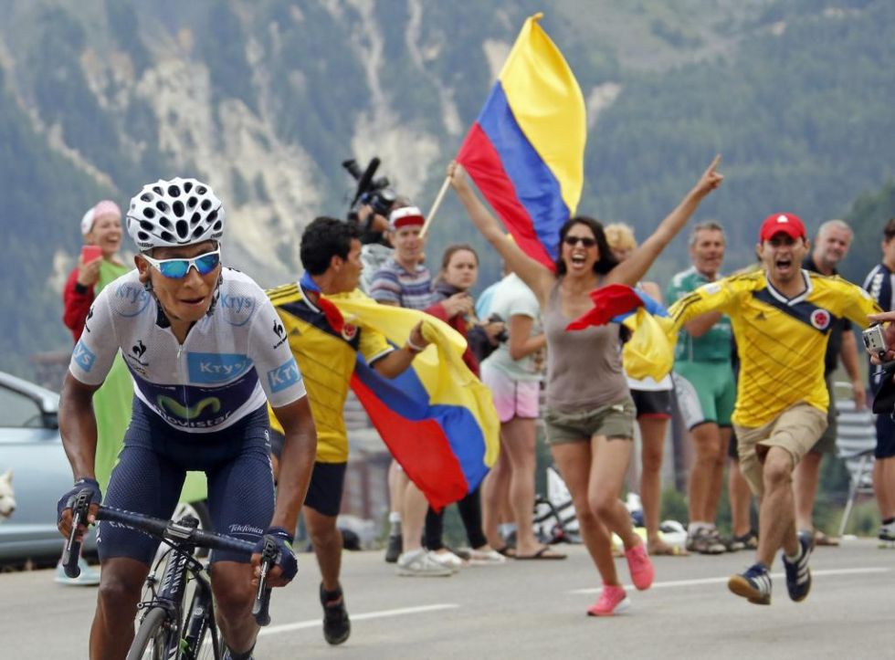 El colombiano pudo al fin descolgar a Froome, aunque la ventaja se antoja insuficiente. La afición colombiana vibró en la carretera.