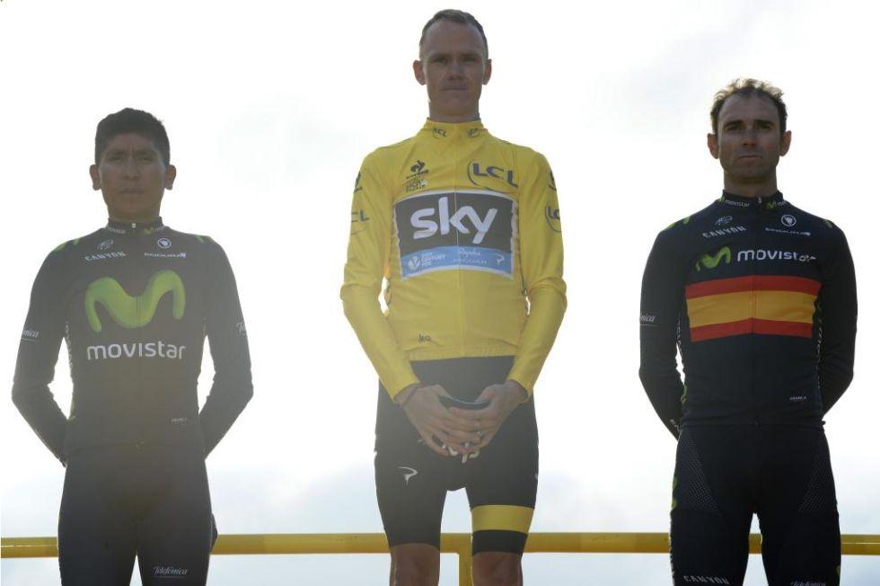 Froome, Quintana y Valverde, justos inquilinos del podium del Tour