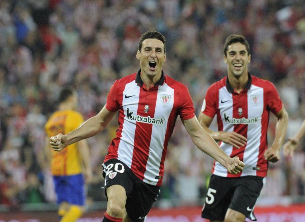 El delantero del Athletic de Bilbao 'desat�' su locura cuando marc� el cuarto tanto del choque, el tercero de su cuenta.