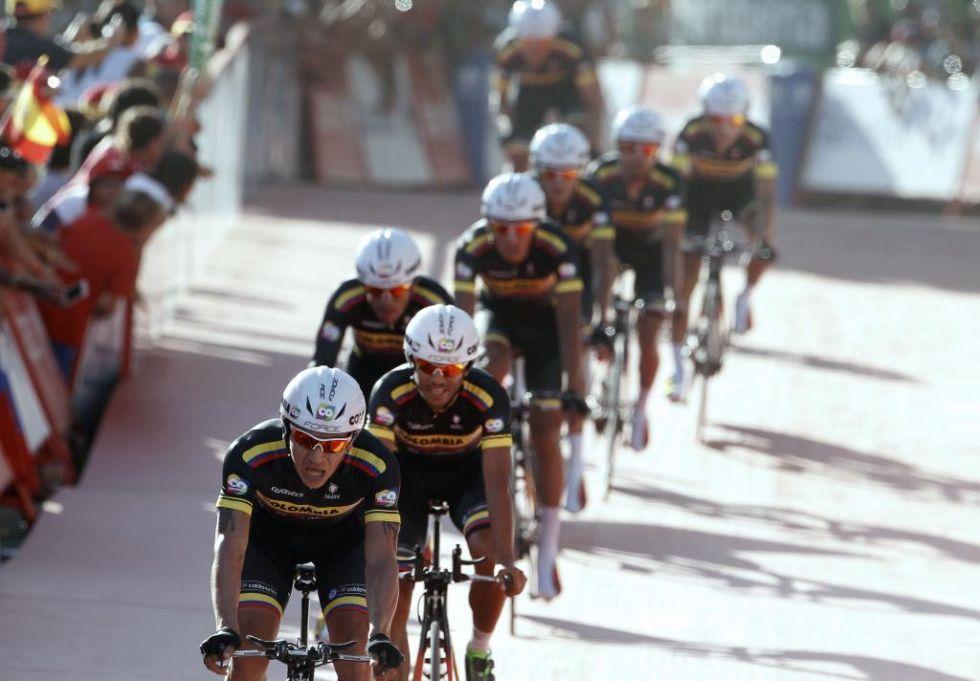 Los colombianos hicieron su debut en la Vuelta a Espa�a