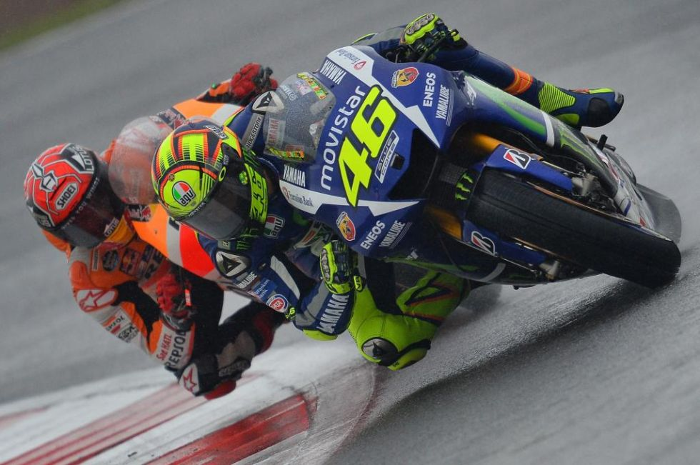 Márquez fue una sombra de Rossi durante muchas vueltas.
