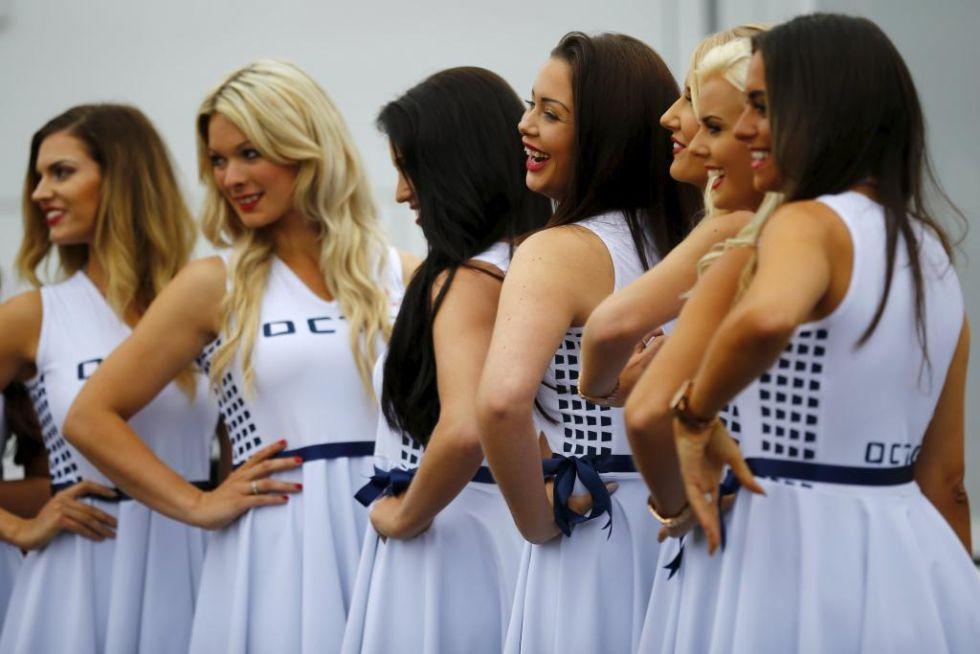 La azafatas del paddock de Silverstone.