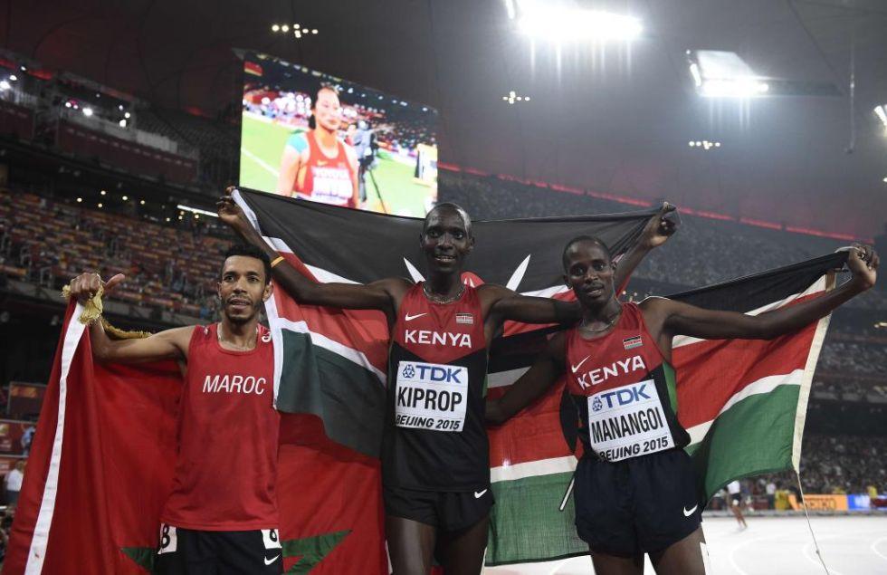 Asbel Kiprop, Elijah Motonei Manangoi y Abdalaati Iguider fueron los ganadores de la final masculina de 1.500m