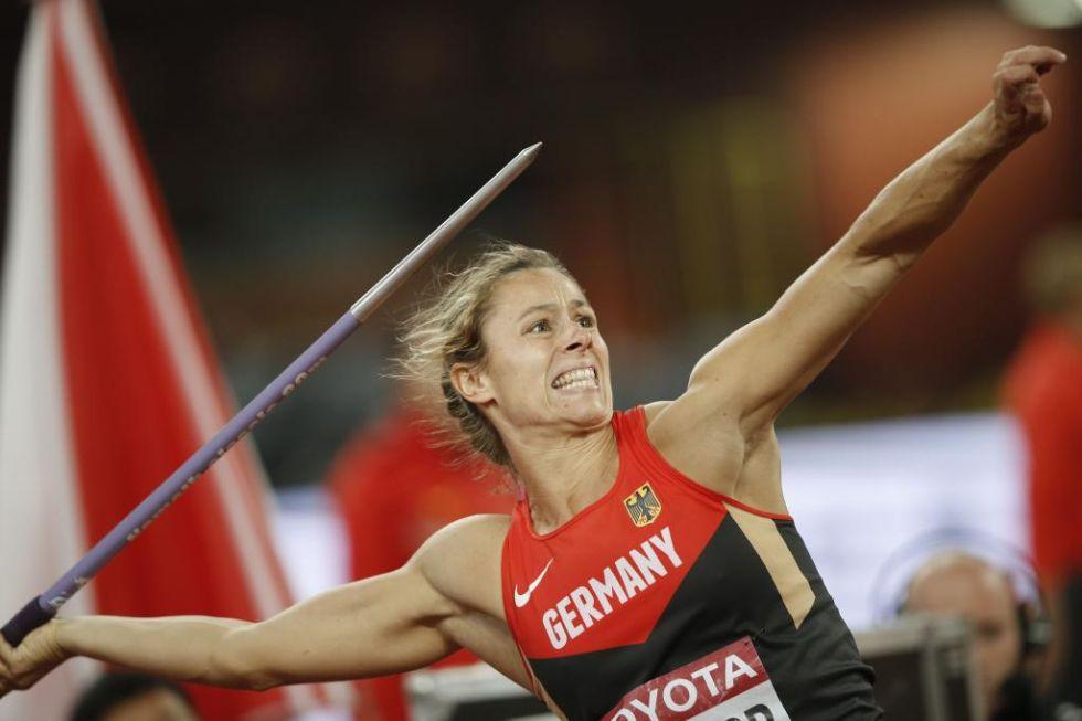 Kathrina Molitor se proclam� campeona del mundo en jabalina en el mundial de Pek�n 2015.