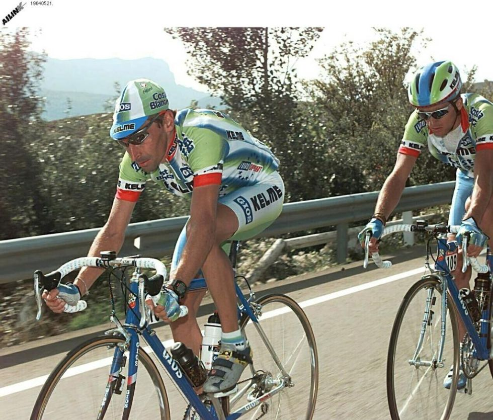 Escartín, en un momento de la Vuelta del 98.