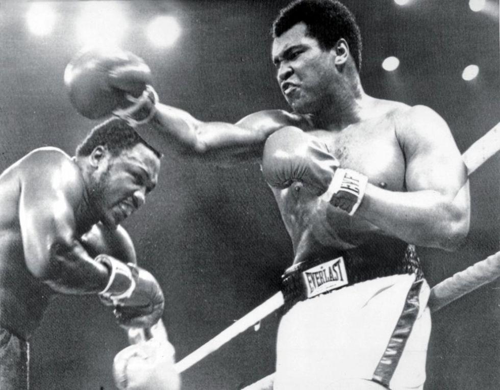 Joe Frazier y Muhammad Ali en el Thrilla in Manila