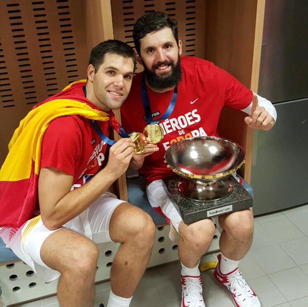 Nikola Mirotic y Felipe Reyes