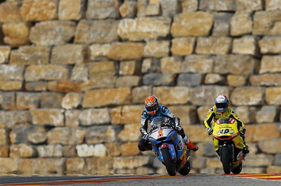 Tito Rabat y �lex Rins tuvieron un intenso duelo en Motorland.