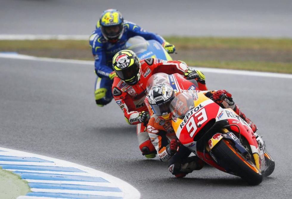 Marc Márquez tuvo un día complicado tras acabar cuarto.