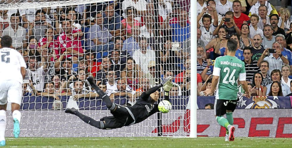 Keylor Navas has produced saves of all shapes and sizes at the beginning of this season, enough to fill a photo album.