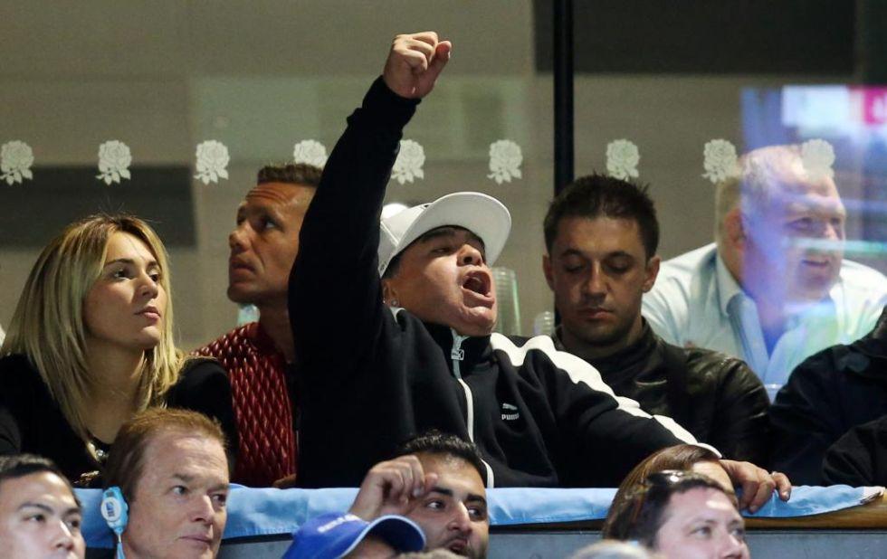 El ex jugador de fútbol acompañó a los 'Pumas' argentinos en dos partidos, incluida la semifinal ante Australia.