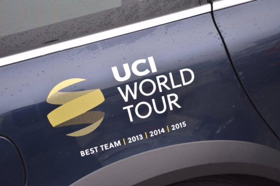 Con total merecimiento, el Movistar Team lucirá en sus vehículos el logo como campeón de la clasificación UCI WorldTour por equipos en los últimos tres años.