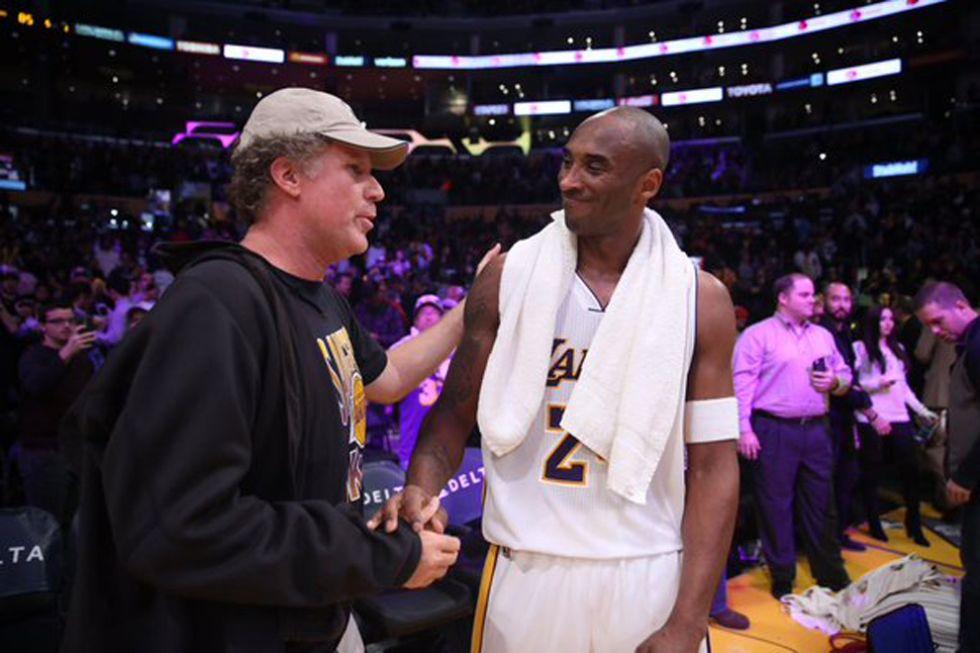Will Ferrell y Kobe Bryant
