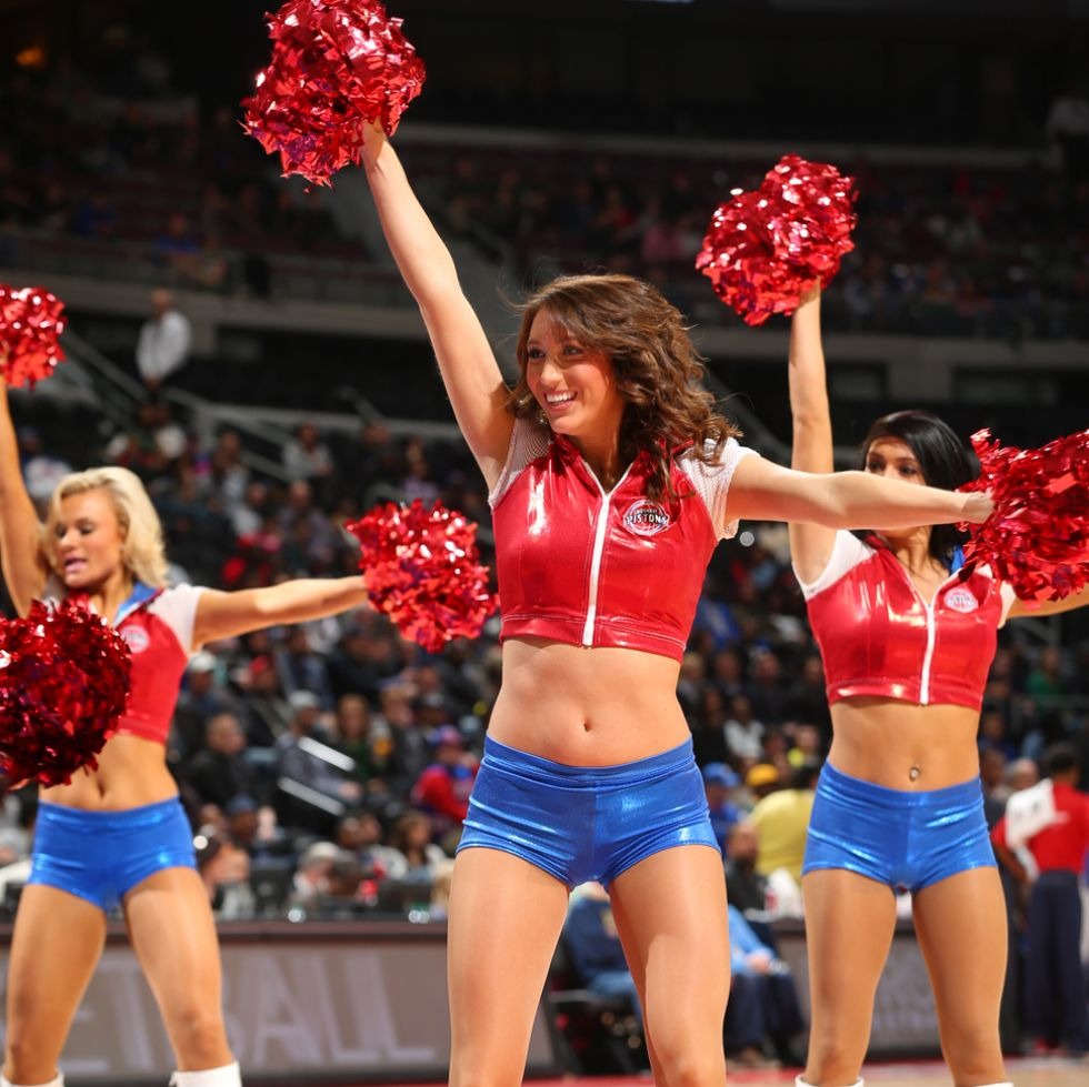 Detroit Pistons cheerleaders