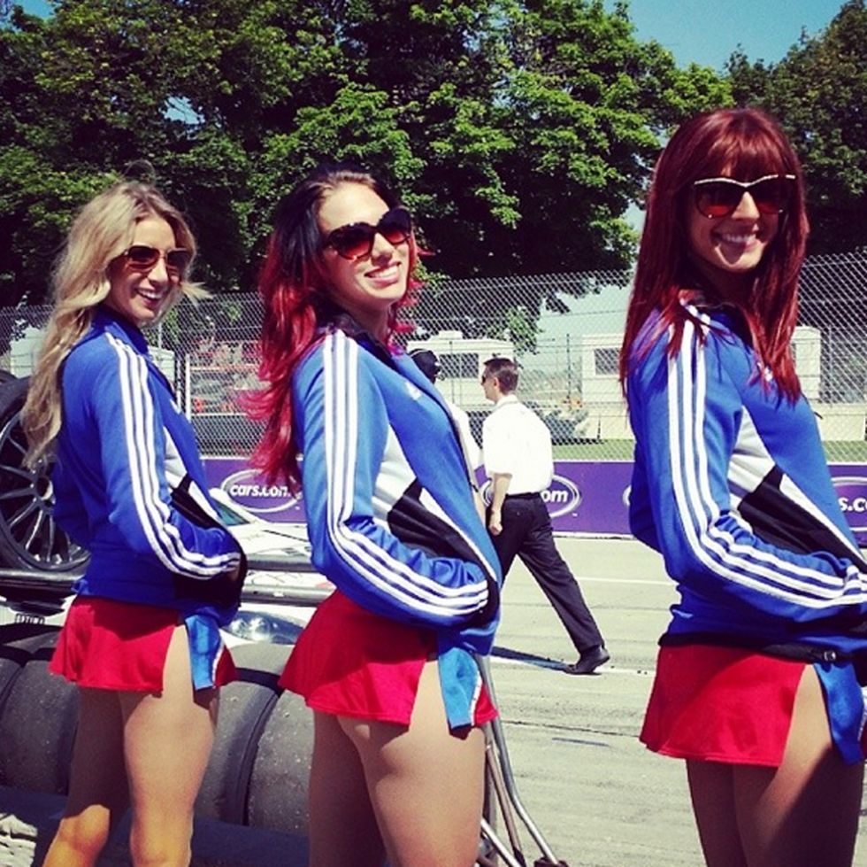 Detroit Pistons cheerleaders