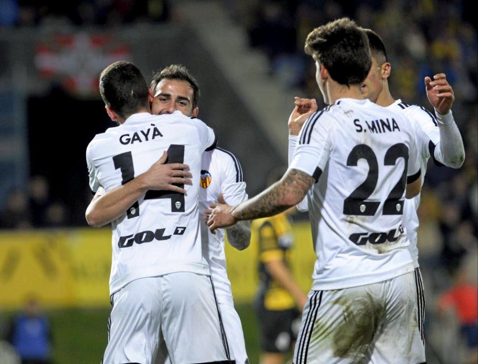 El Valencia encarril� la eliminatoria tras ganar en Barakaldo por 1-3