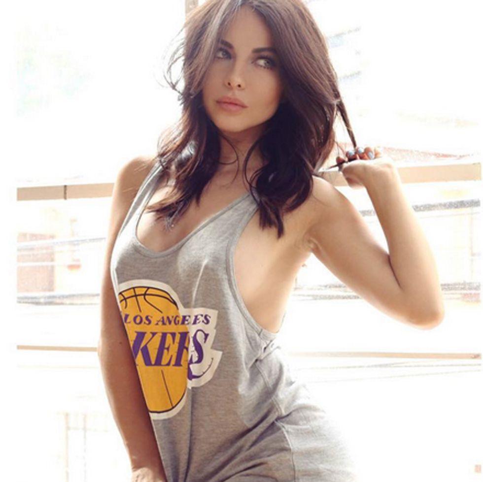 Jimena S�nchez, fan de la NBA en M�xico