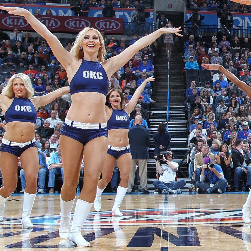 Oklahoma City Thunder cheerleaders