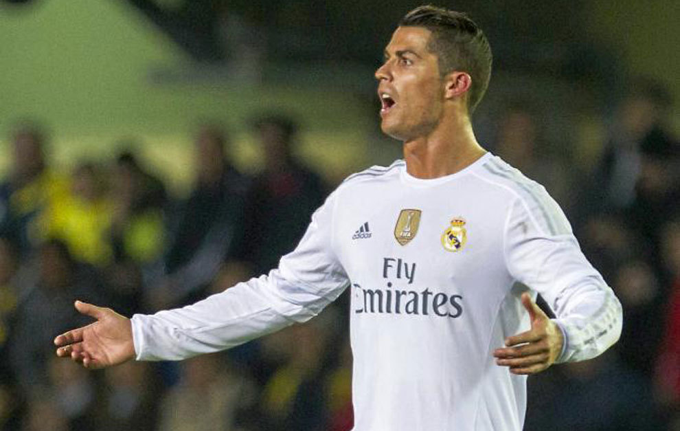 Cristiano Ronaldo se lamenta tras una ocasión fallida