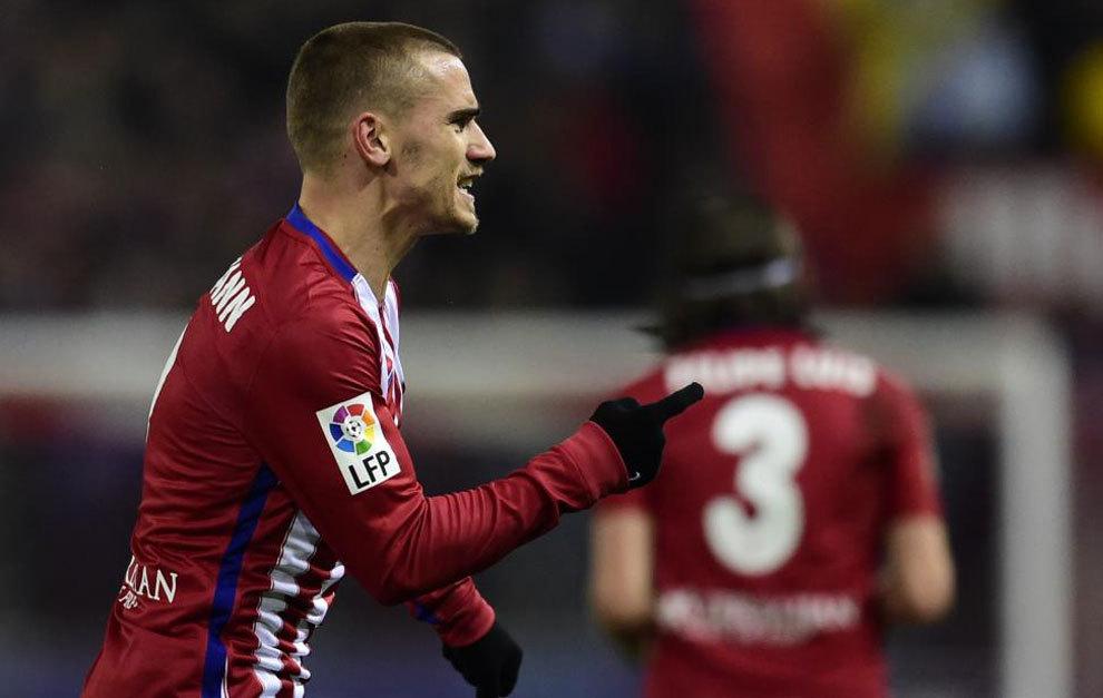 Griezmann celebra su gol ante el Athletic