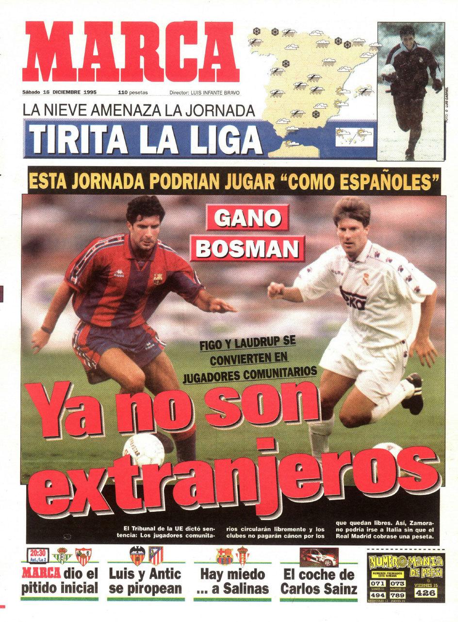 Bosman, el hombre que cambió el fútbol | Marca.com