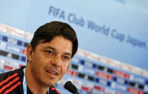 Marcelo Gallardo, en rueda de prensa