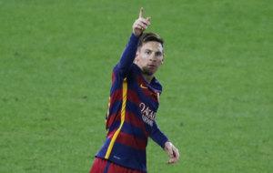 Messi celebra su gol en la final.