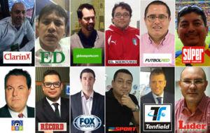 Los 12 periodistas que participaron de la encuesta que realizó MARCA.