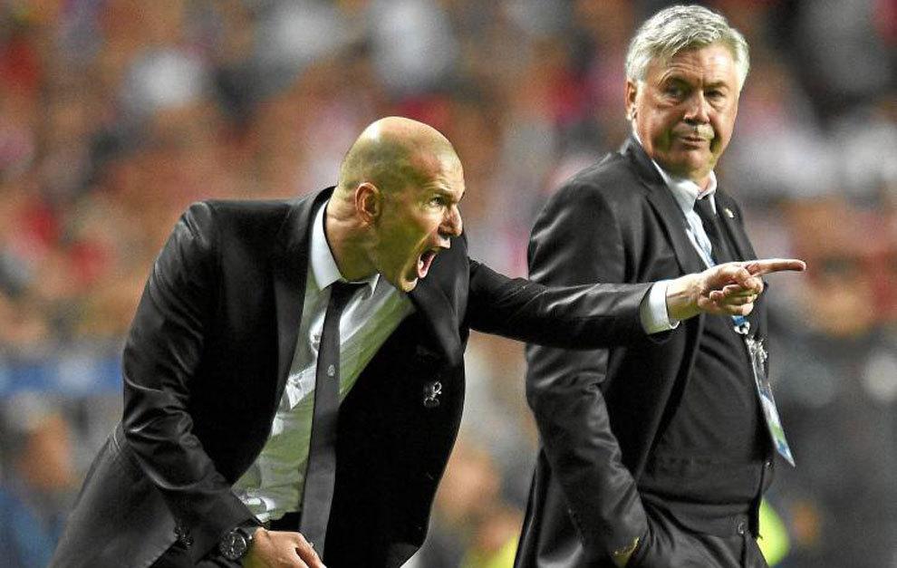Lippi, Ancelotti, Bielsa, Del Bosque y Pep inspiran a Zidane | Marca.com