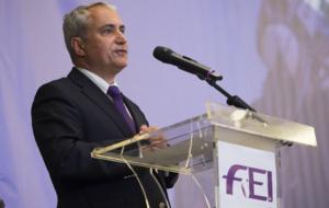 Ingmar de Vos, en un discurso como presidente de la Federación...