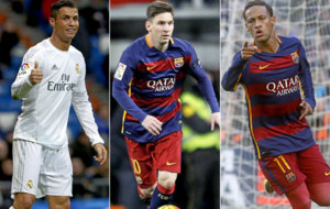 Cristiano Ronaldo, Messi y Neymar