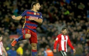 Luis Suárez, contra el Athletic de Bilbao