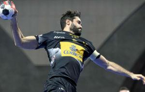 Raúl Entrerríos, durante el partido jugado por España contra...