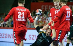 Rafael Barrena, durante el partido contra Rusia.