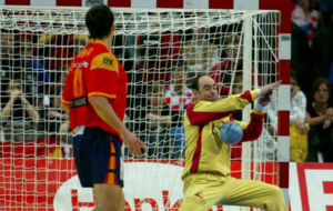 José Javier Hombrados, durante la final del Europeo 2006