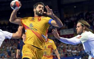 Raúl Entrerríos, durante el partido de la primera fase contra...