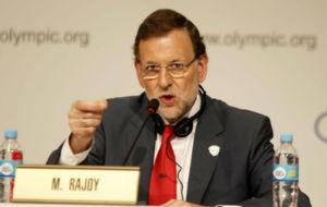 El presidente del Gobierno, Mariano Rajoy, en un acto en Buenos Aires...